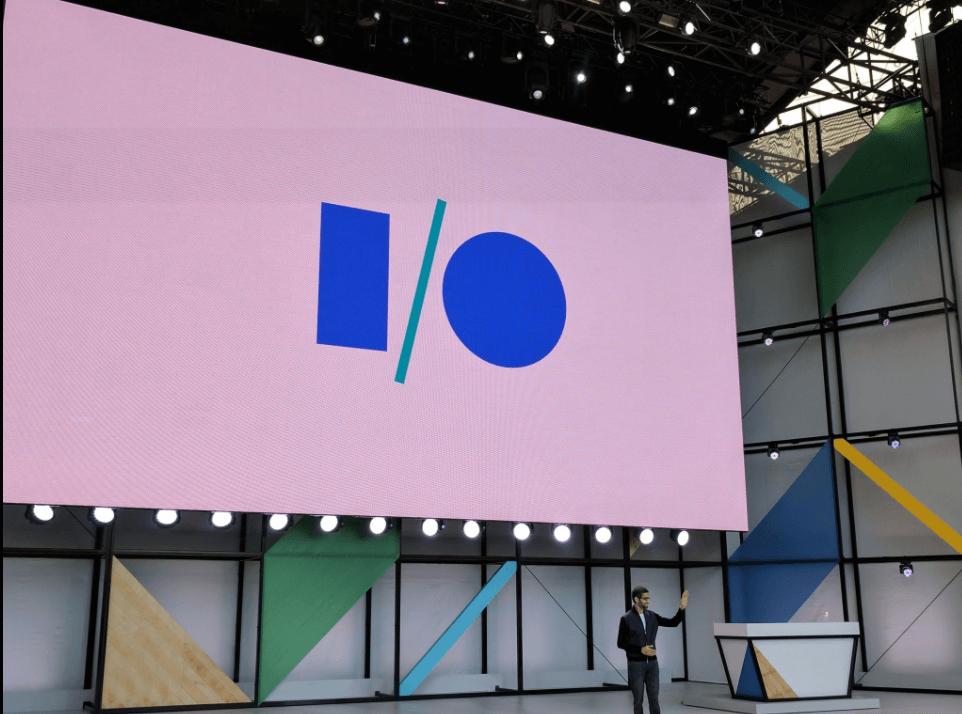 Sundar Pichai en la presentación de Google I/O 2017, Conferencia de Desarrolladores, inteligencia artificial,