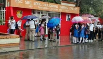 Suspenden clases en el Istmo de Tehuantepec por fuertes lluvias