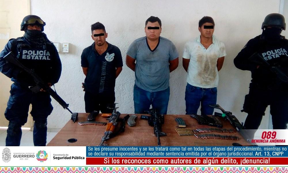 Guerrero, seguridad, violencia, ejército, policía, detenidos