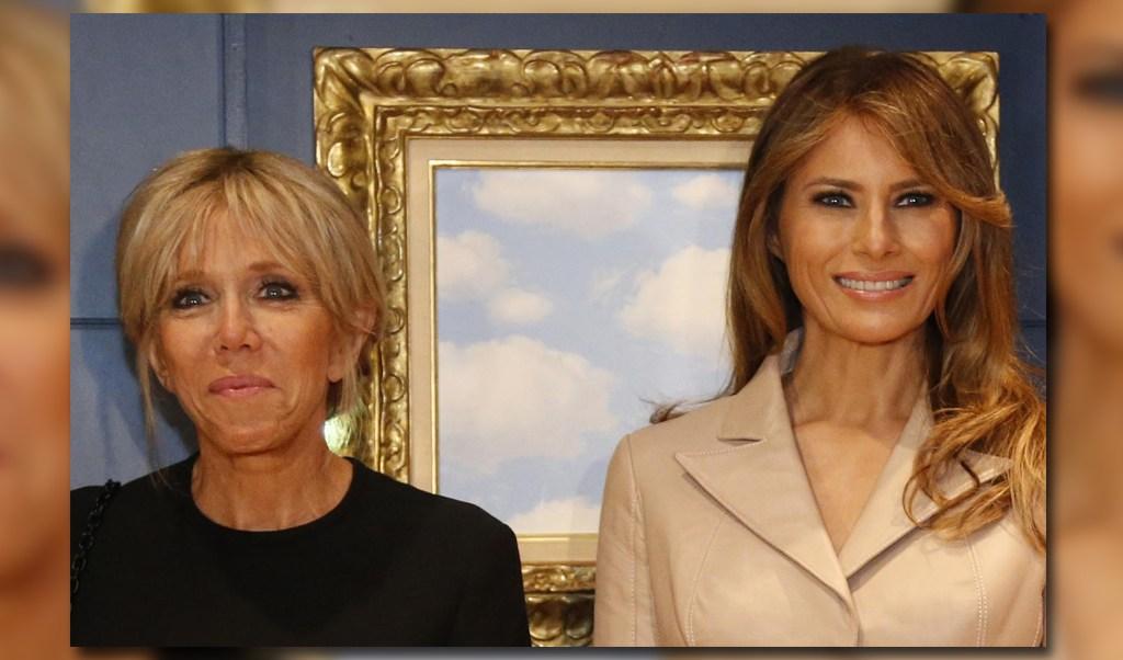 Brigitte Macron y Melania Trump en el Museo Magritte en Bruselas
