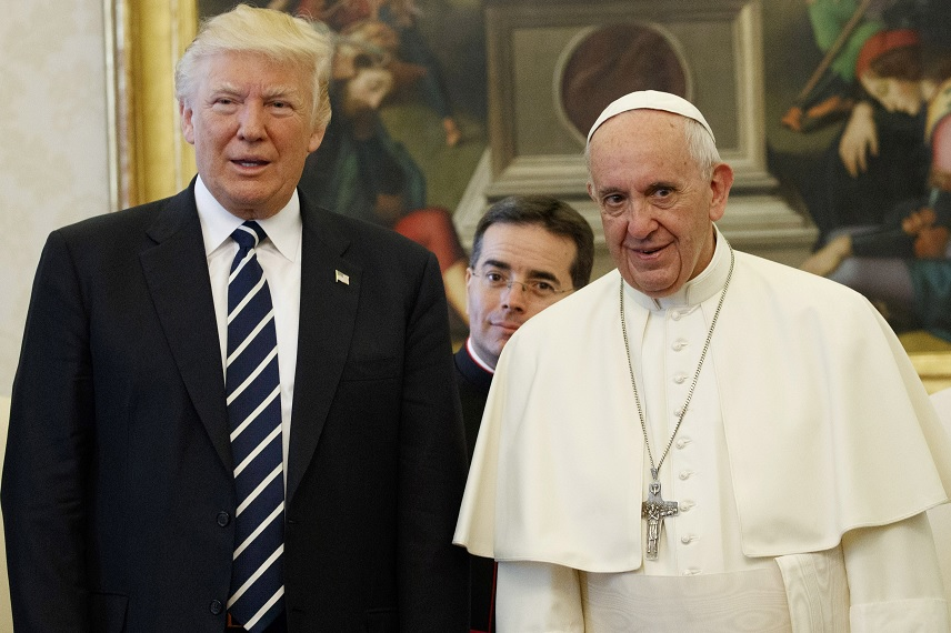 El presidente Donald Trump y el papa Francisco (Reuters/archivo)