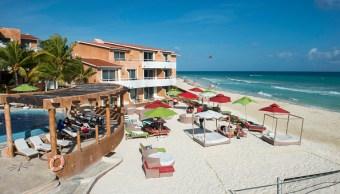 Vista de una playa en el Caribe mexicano. Aumentó el número de turistas extranjeros a México. (Getty Images(