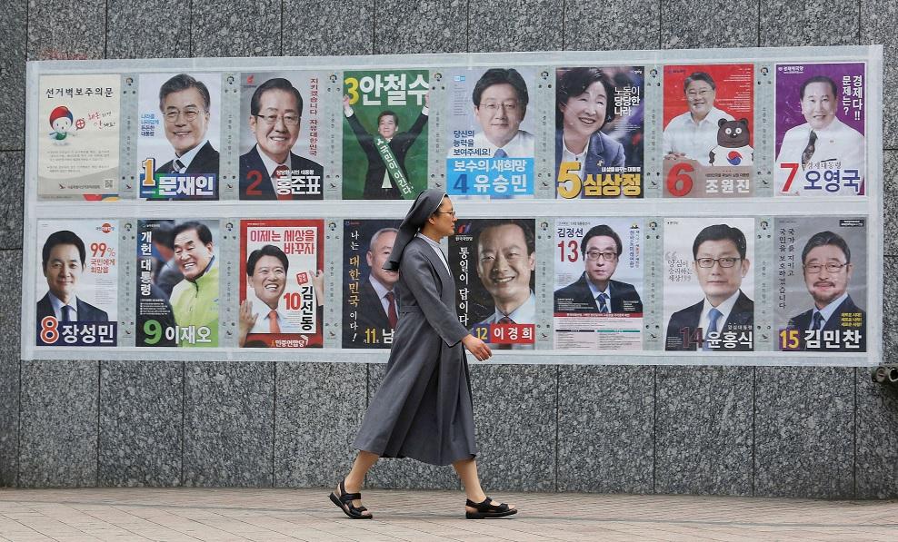 Encuestas dan por ganador al liberal Moon Jae-in — Elecciones en Corea