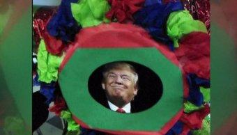 Trump, piñata, presidente, escuela, estudiantes, Estados Unidos, Denver,
