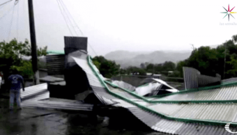 Lluvias, Vientos, Pichucalco, Chiapas, rachas de vientos, Casas dañadas,