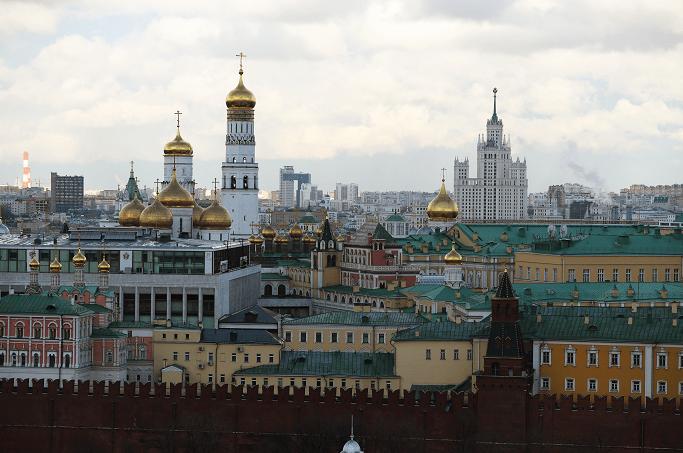Vista del Kremlin, en Moscú, la capital Rusa