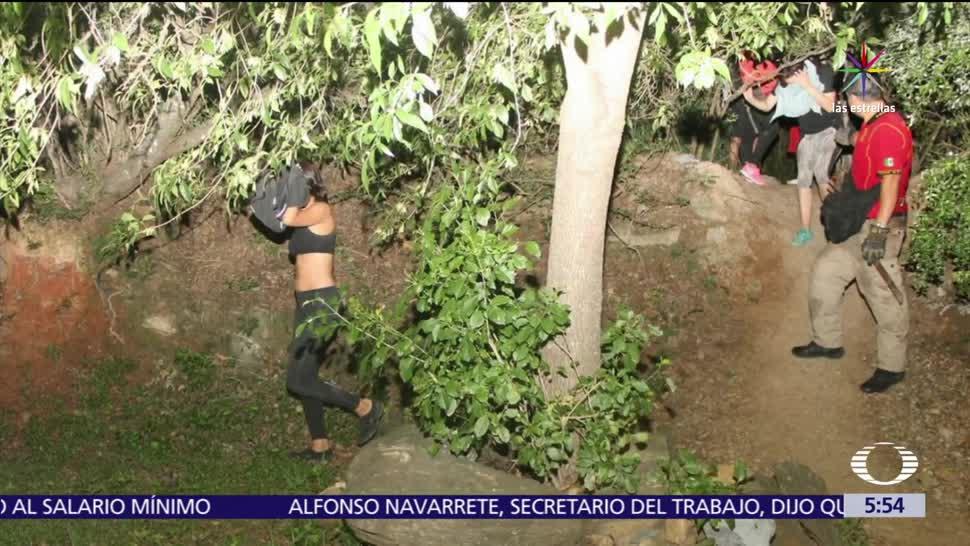 Monterrey, personal de Protección Civil, jóvenes, Cerro El Chupón