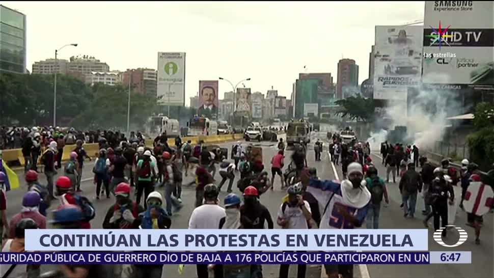protestas, régimen de Nicolás Maduro, Venezuela, enfrentamientos en Caracas