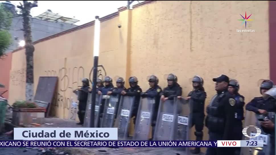 invasores, predio, Olivar del Conde, CDMX, policías, operativo de desalojo