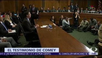 James Comey, exdirector del FBI, Senado de EU, Trump, Michael Flynn