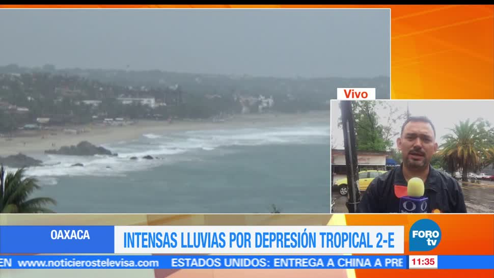 noticias, forotv, registran, lluvias, intensas, Oaxaca
