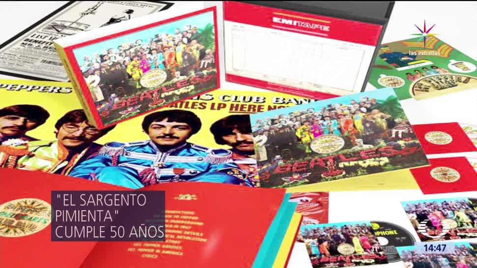 noticias, televisa, Sargento pimienta, cumple 50 anos, Beatles, cuarteto de Liverpool