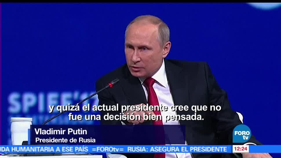 Vladimir Putin, presidente de Rusia, pidió no juzgar, Donald Trump