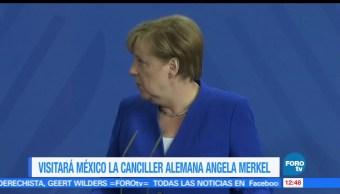 La canciller alemana, Angela Merkel, visita, México
