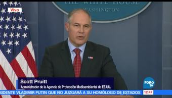 Scott Pruitt, administrador de la Agencia de Protección Medioambiental de EU, Demostraremos, funcionario ambiental