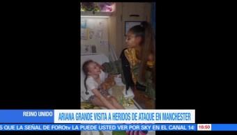 Ariana Grande, visita, víctimas, atentado, Manchester, victimas atentado
