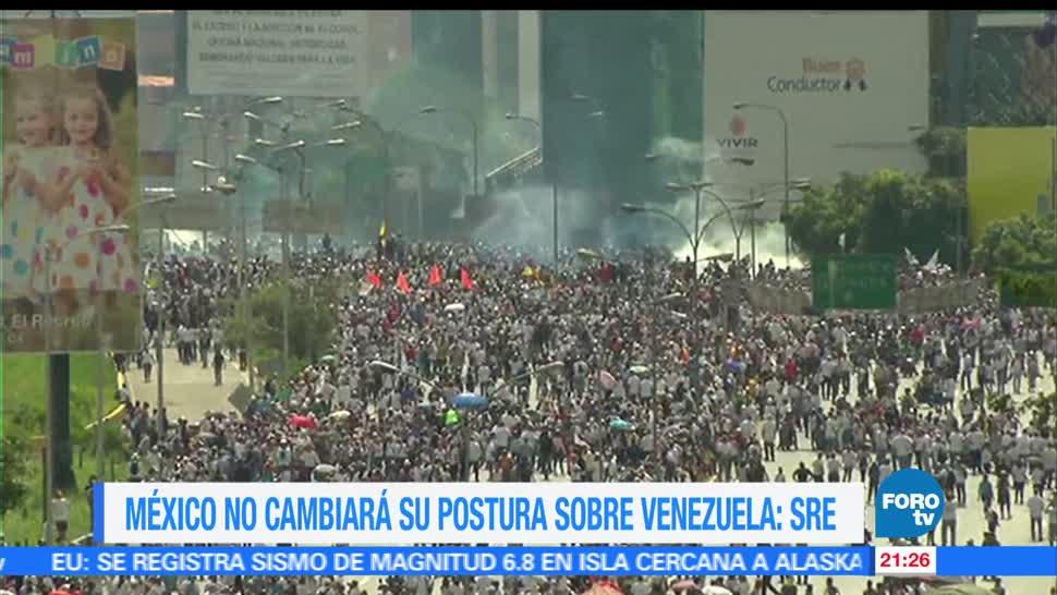noticias, forotv, México, mantiene, postura, crisis en Venezuela