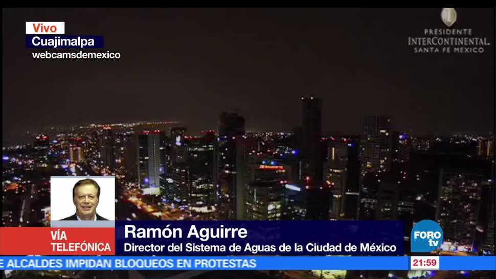 noticias, forotv, Tormenta, afecta, zona de Santa Fe, CDMX