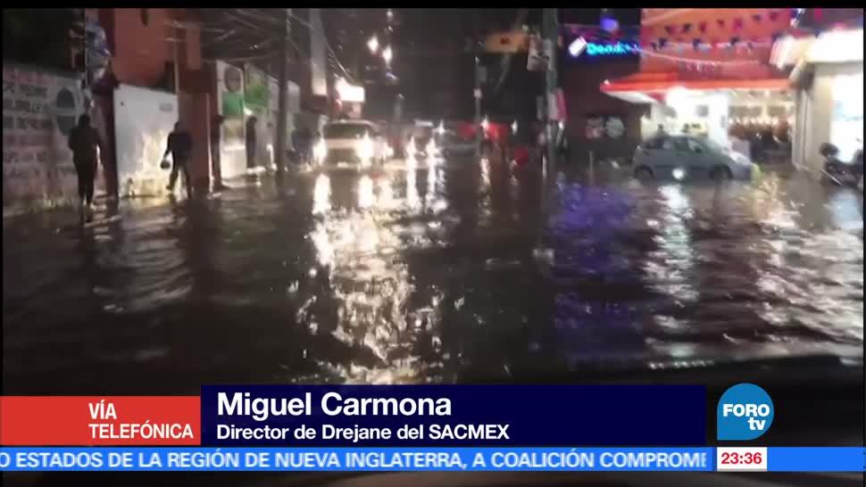 noticias, forotv, registra, intensa lluvia, poniente, sur de la CDMX