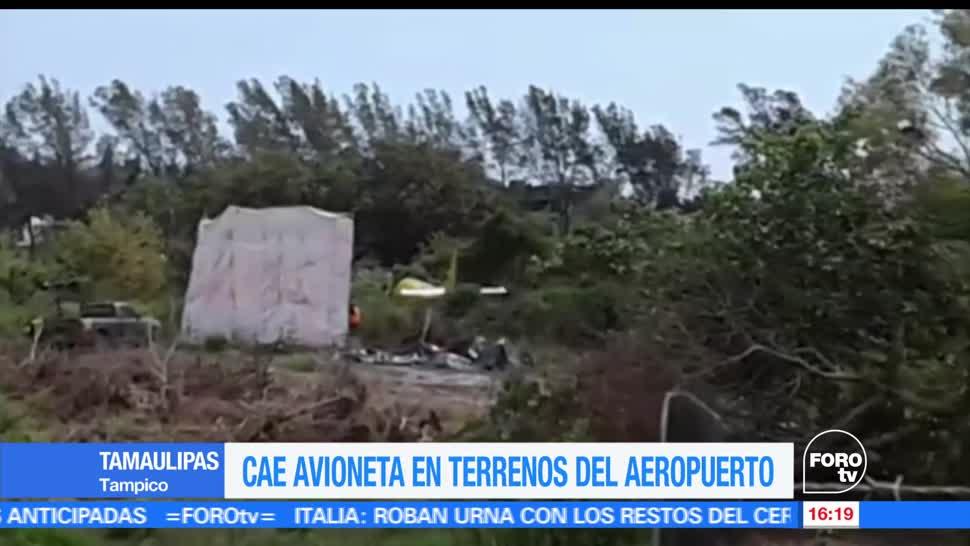 Avioneta, se desploma, cae, terrenos, aeropuerto, Tampico