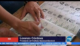 Lorenzo Córdova, explica, operado, PREP, ine, votaciones