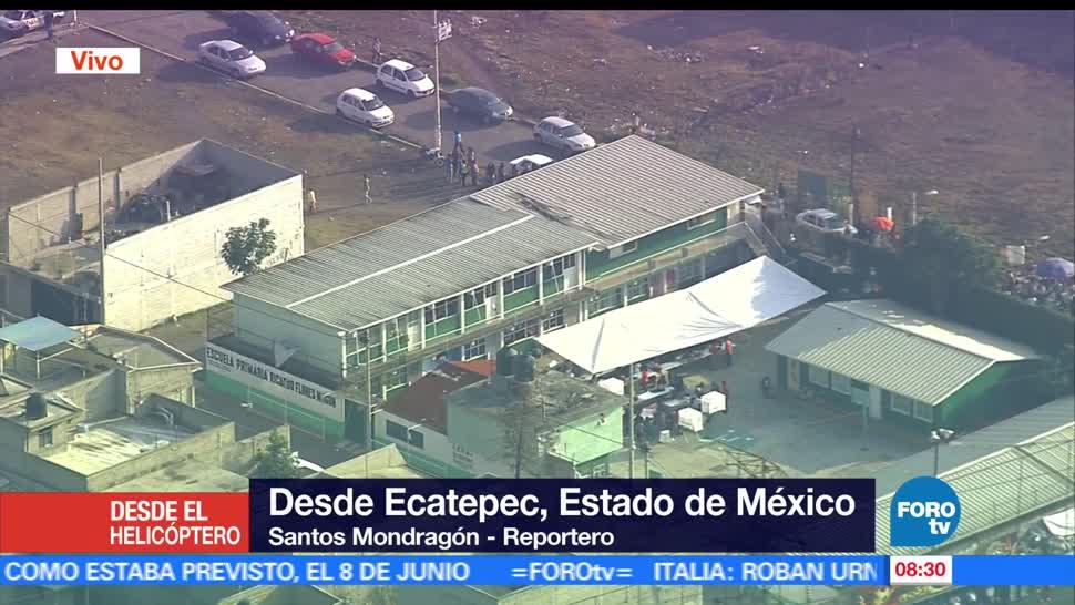 Escuelas, plazas públicas, casillas, elección, Estado de México