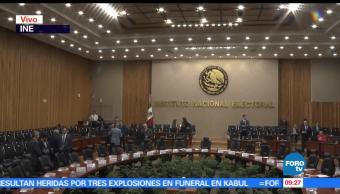 Instituto Nacional Electoral, sesión extraordinaria, Consejo General, 4 de junio
