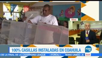 noticias, forotv, Instalan, casillas, Coahuila, decision 2017
