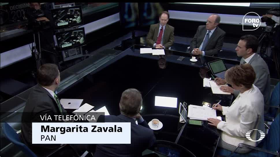 La militante del PAN, Margarita Zavala, Anaya, derrota del PAN