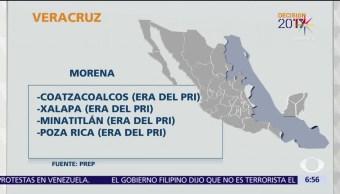 coalición PAN-PRD, Programa de Resultados Electorales, renovación, alcaldías, Veracruz