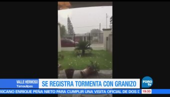 noticias, forotv, Granizada, Tamaulipas, fuerte tormenta, granizo