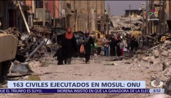 Organización de Naciones Unidas, Estado Islámico, civiles, Mosul