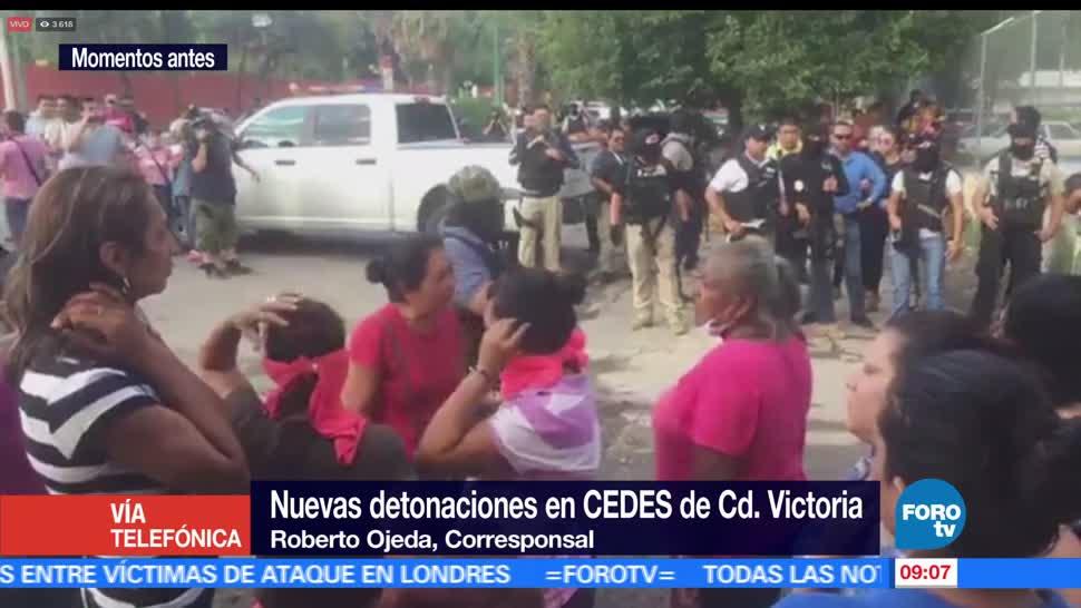 nuevas detonaciones, penal, Ciudad Victoria, Tamaulipas