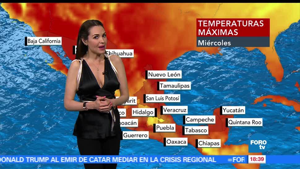El Clima, condiciones climatológicas, Mayte Carranco, jueves, lluvias, calor