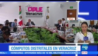 Cómputos, distritales, estado, Veracruz, votos, conteo