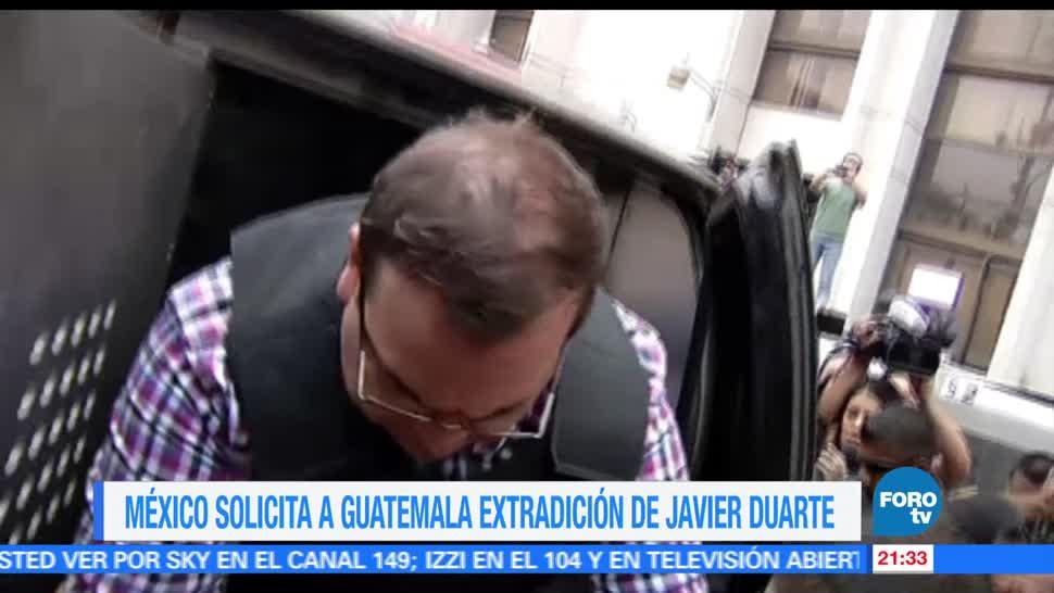 México, pide, Guatemala, extradición, Javier Duarte, orrupción veracruz