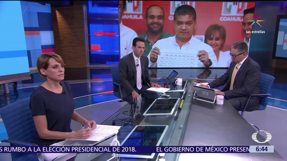 Miguel Riquelme, candidato a gobernador, Coahuila, cómputos