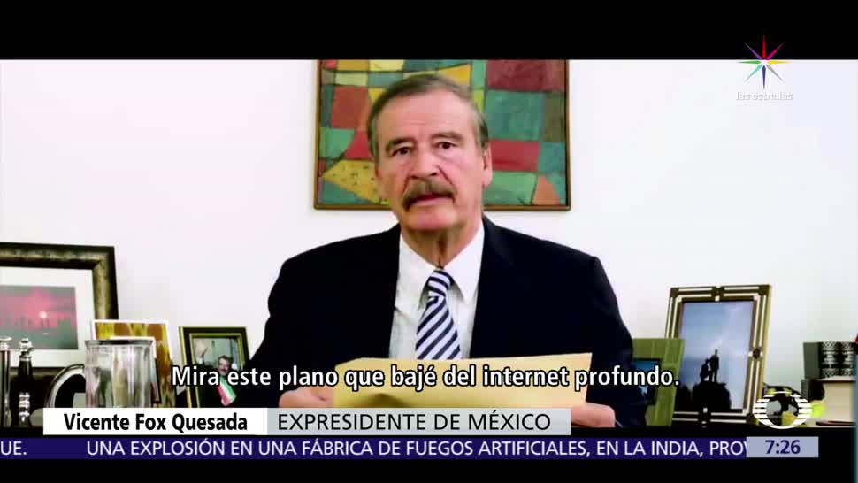 Vicente Fox, mensaje de video, Donald Trump, muro fronterizo, comer tacos