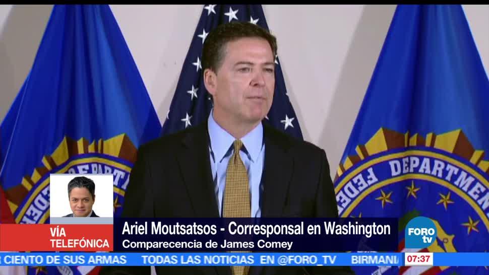 exdirector del FBI, James Comey, presidente de Estados Unidos, Donald Trump, sesión pública, Senado