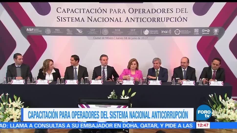 programa nacional, capacitación para operadores,Sistema Nacional Anticorrupción, México