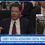 noticias, forotv, Comey, ratifica, acusaciones, contra Trump