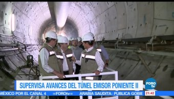 EPN, supervisa, avances, Túnel, Emisor, Poniente 2