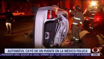 Auto, sale, autopista, México-Toluca