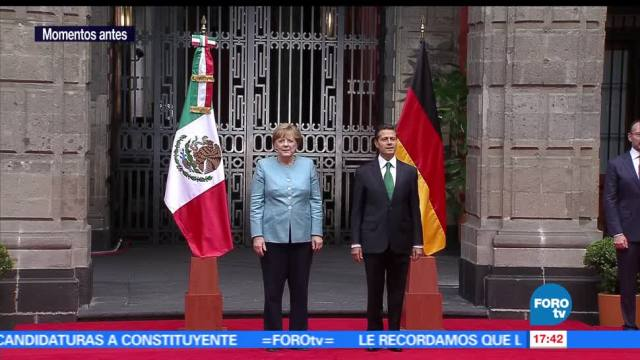 noticias, forotv, EPN, recibe, Palacio Nacional, Angela Merkel