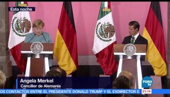 Angela, Merkel, destaca, México, buen socio, comercial