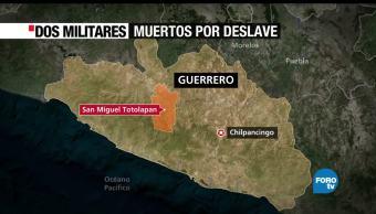 deslave, municipio de San Miguel Totolapan, Guerrero, militares, desaparecidos