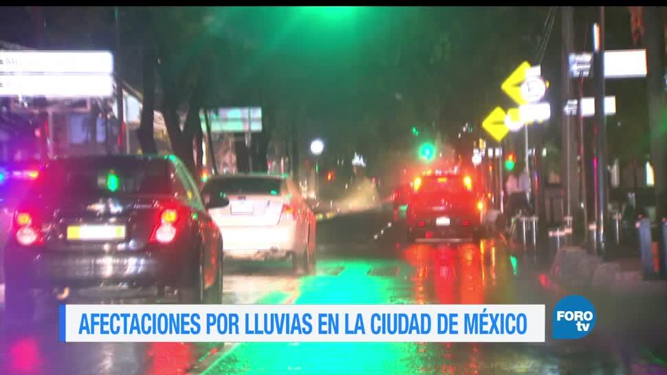 Fuertes lluvias, Ciudad de México, afectaciones, Azcapotzalco, Benito Juárez, Cuauhtémoc