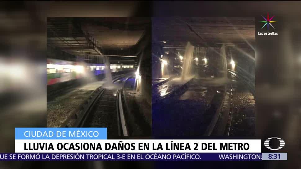 Lluvias, túneles, Línea 2 del Metro, estaciones, Panteones, Cuatro Caminos