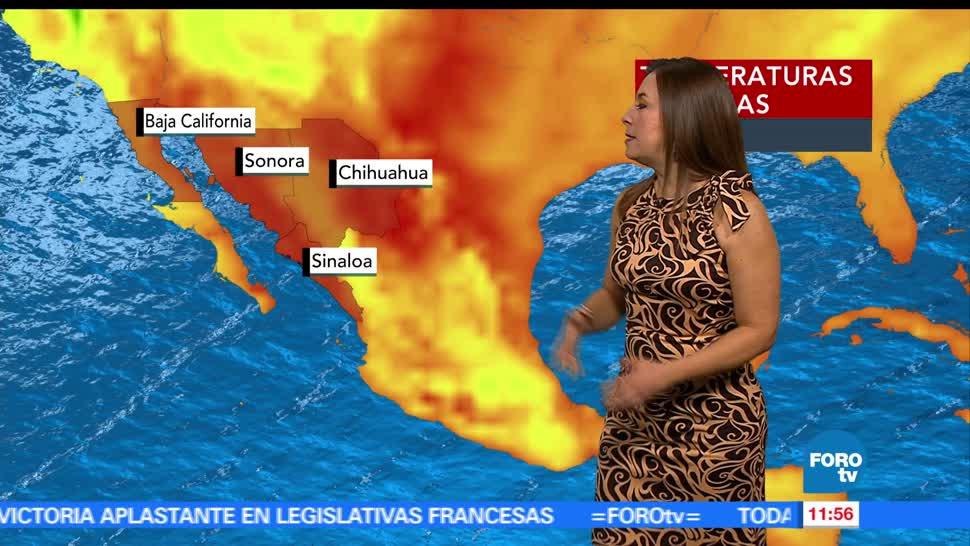 Intenso calor, baja California, Sonora, Chihuahua, lluvia, CDMX