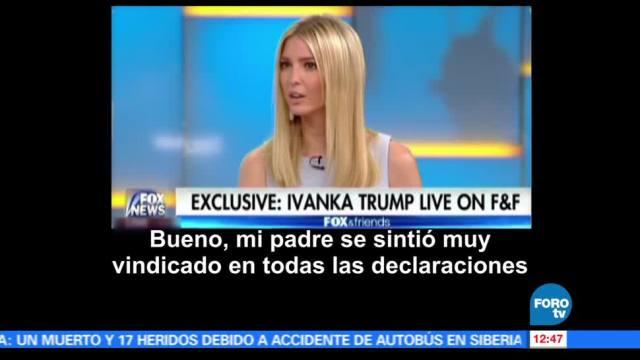 Ivanka Trump, comparecencia, Congreso, FBI, James Comey